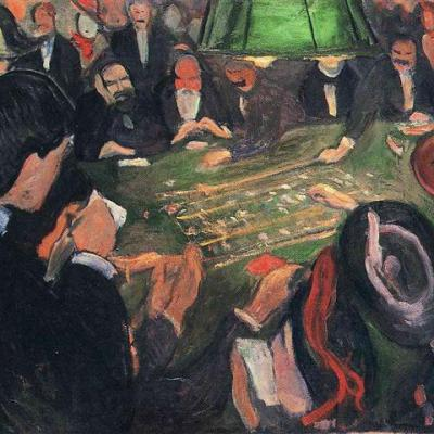 By The Roulette 1892 Edvard Munch